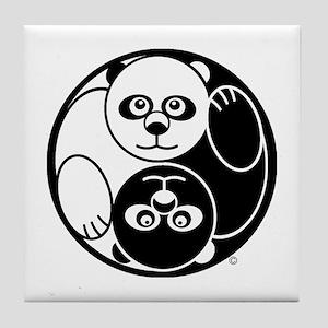 Yin and Yang Panda Tile Coaster
