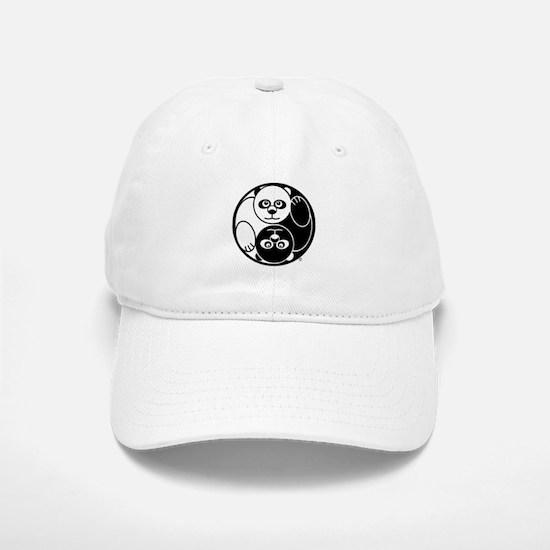 Yin and Yang Panda Baseball Baseball Cap