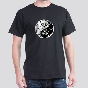Yin and Yang Panda Dark T-Shirt