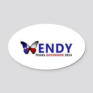 Texas Governor Butterfly Wendy Davis 2014 Oval Car