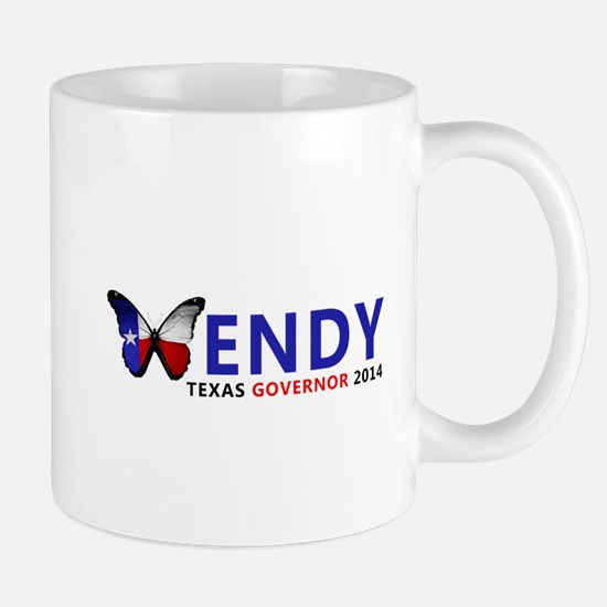 Texas Governor Butterfly Wendy Davis 2014 Mugs
