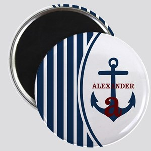 Anchor and Stripes Monogram Magnet
