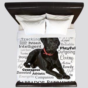 Black Lab Traits King Duvet