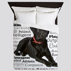 Black Lab Traits Queen Duvet
