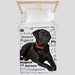 Black Lab Traits Twin Duvet