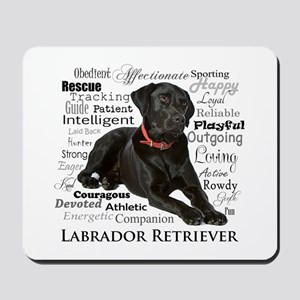 Black Lab Traits Mousepad