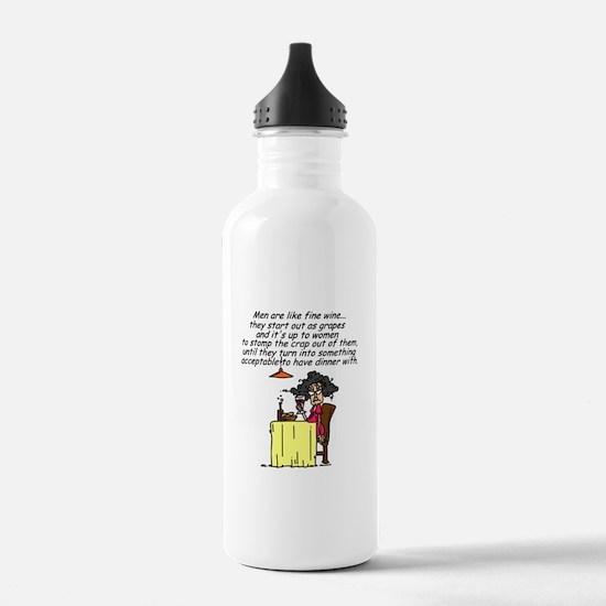 Men and Fine Wine Sports Water Bottle