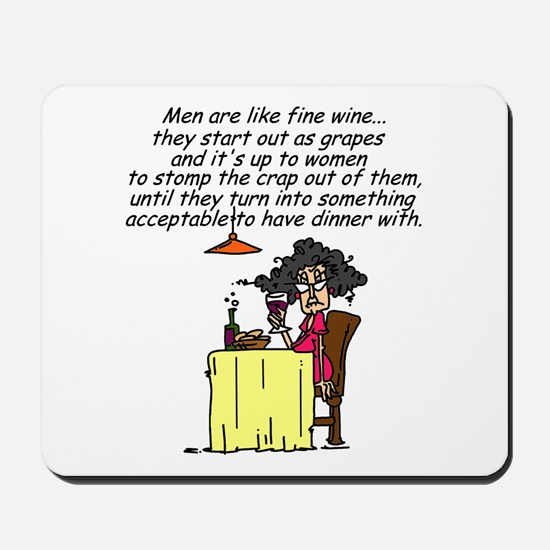 Men and Fine Wine Mousepad