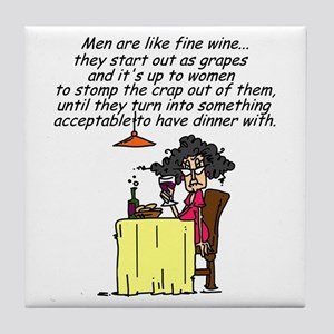Men and Fine Wine Tile Coaster