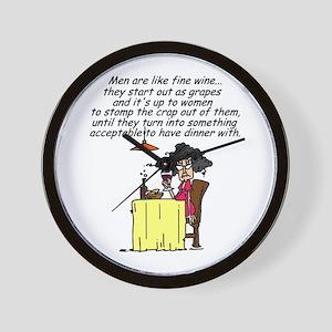 Men and Fine Wine Wall Clock