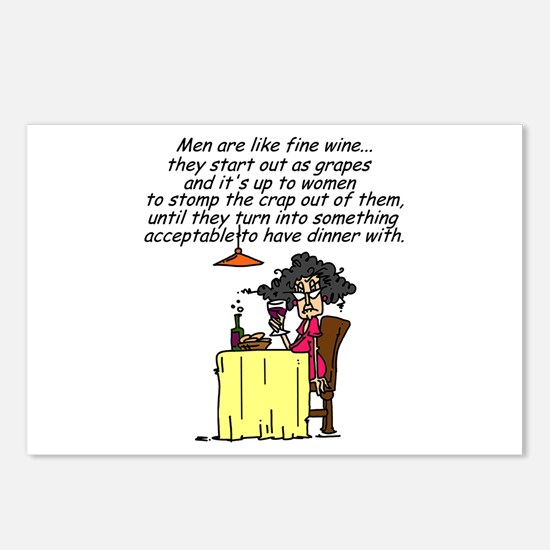 Men and Fine Wine Postcards (Package of 8)