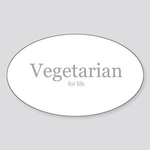 Vegetarian for life Oval Sticker
