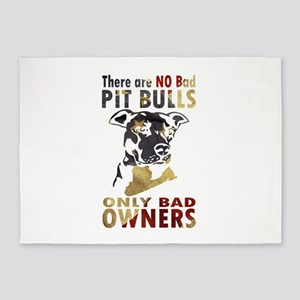 NO BAD PIT BULLS AF4 5'x7'Area Rug