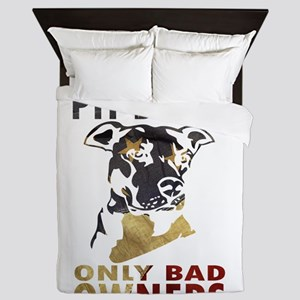 NO BAD PIT BULLS AF4 Queen Duvet
