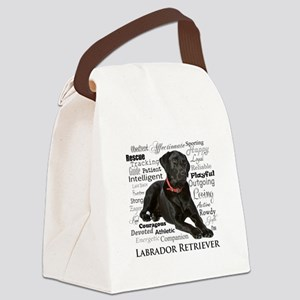Black Lab Traits Canvas Lunch Bag