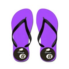 Purple Delight 8 Ball Pool Player Flip Flops
