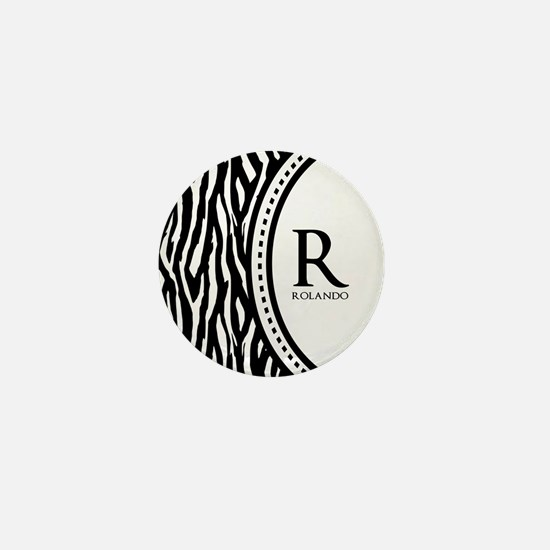 Trendy Animal Print Monogram Mini Button