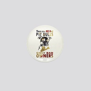 NO BAD PIT BULLS AF4 Mini Button