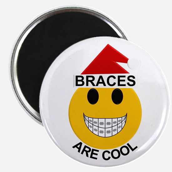 Braces are Cool Christmas Magnet