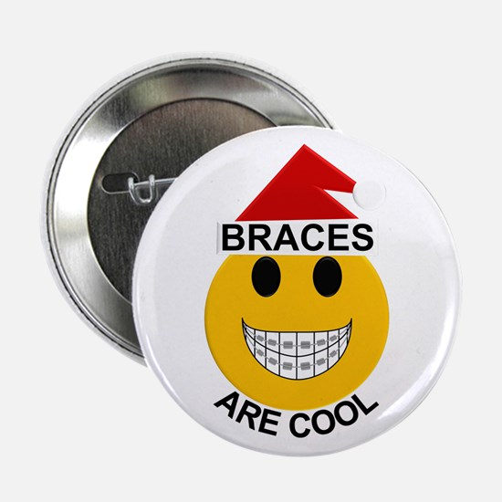 "Braces are Cool Christmas 2.25"" Button"