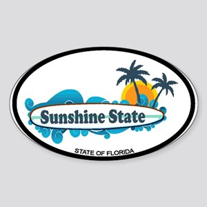 Florida - Surf Design. Sticker (Oval)