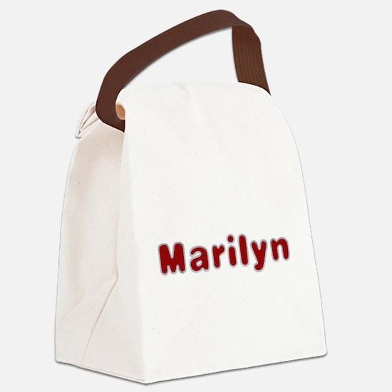 Marilyn Santa Fur Canvas Lunch Bag