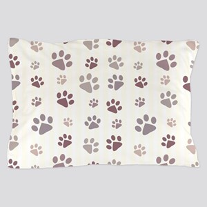 Paw Prints Pillow Case