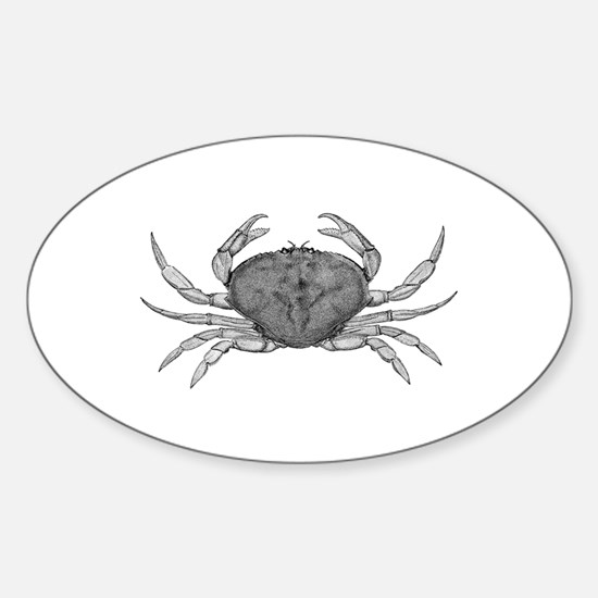 Dungeness Crab (line art) Decal