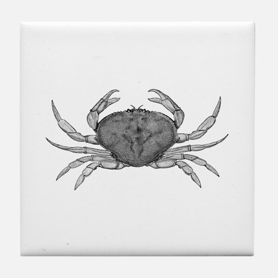 Dungeness Crab (line art) Tile Coaster