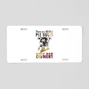 NO BAD PIT BULLS AF4 Aluminum License Plate