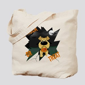 Airedale Vampire Halloween Tote Bag