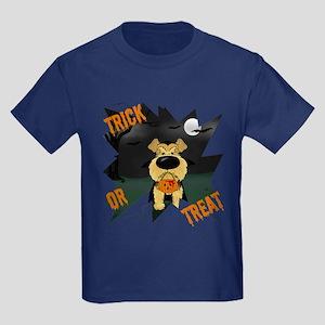 Airedale Vampire Halloween Kids Dark T-Shirt
