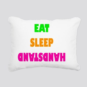Eat Sleep Handstand Flou Rectangular Canvas Pillow