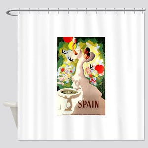 Antique 1941 Spanish Flamenco Dancer Travel Poster