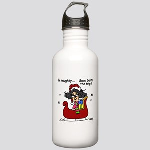 Holiday Be Naughty Stainless Water Bottle 1.0L