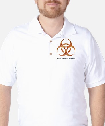 Bacon Addicted Zombies BioBacon - White Golf Shirt