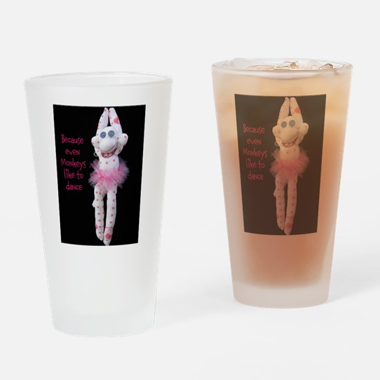 Monkeys Dance Drinking Glass