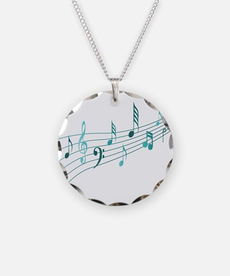 Turquoise Musical Notes Necklace