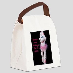 Monkeys Dance Canvas Lunch Bag