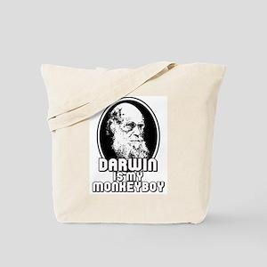 Darwin is my Monkeyboy Tote Bag