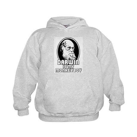 Darwin is my Monkeyboy Kids Hoodie