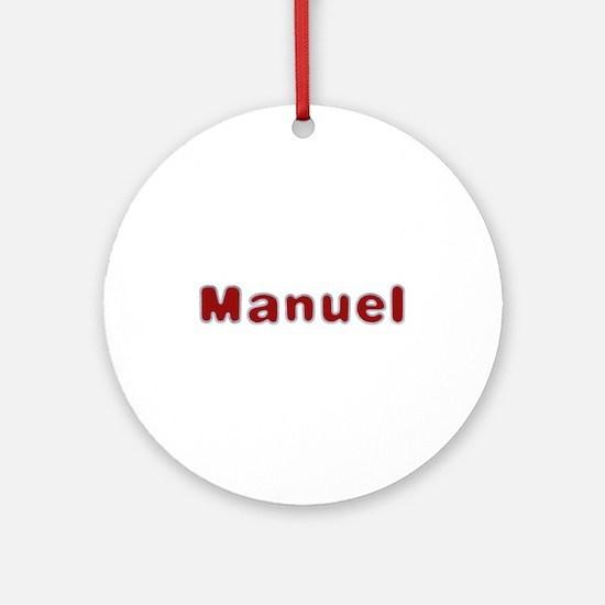 Manuel Santa Fur Round Ornament