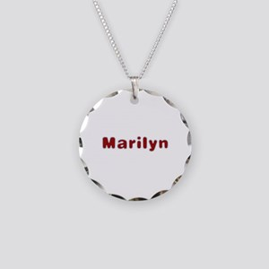 Marilyn Santa Fur Necklace Circle Charm