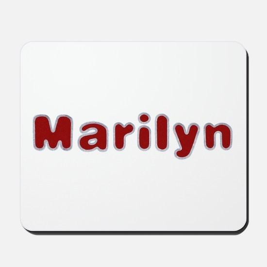 Marilyn Santa Fur Mousepad