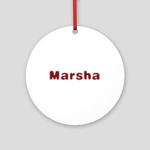 Marsha Santa Fur Round Ornament