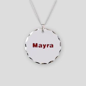 Mayra Santa Fur Necklace Circle Charm