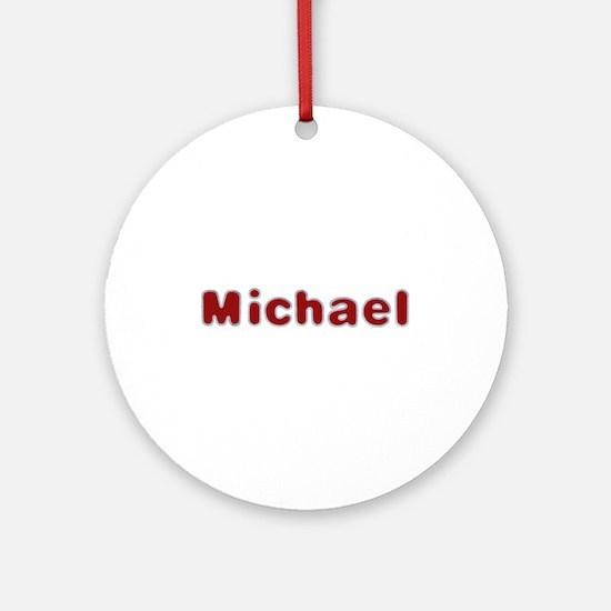 Michael Santa Fur Round Ornament