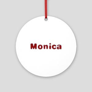 Monica Santa Fur Round Ornament