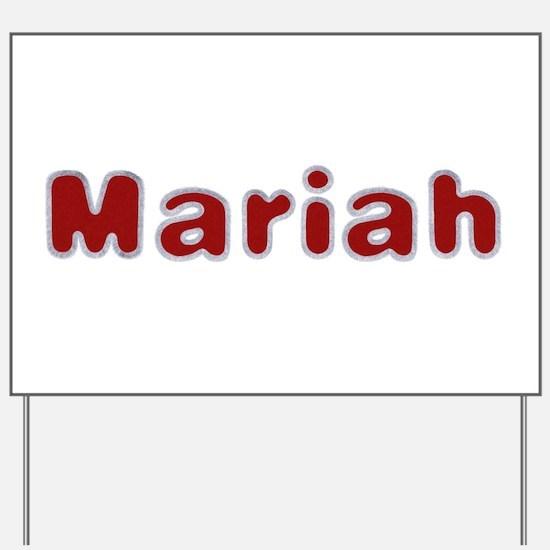 Mariah Santa Fur Yard Sign