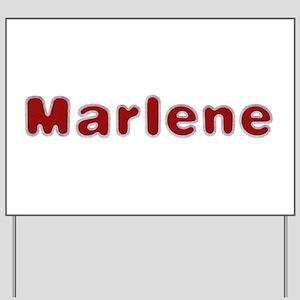 Marlene Santa Fur Yard Sign